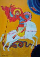 Giuseppe Sirni - San Giorgio 2007- Olio su tela, cm 35X50, Mistretta, collezione privata  - Mistretta (5193 clic)