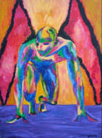 Giuseppe Sirni - Angelo Caduto - olio su tela - cm  80X100 - Mistretta  - Mistretta (3135 clic)