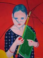 Giuseppe Sirni - Bambina Afgana - acrilico su tela - cm 35X50 - Milano  - Mistretta (2079 clic)