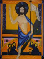 Giuseppe Sirni - Risurrezione - olio su tela - cm 80X100 - Mistretta - collezione privata  - Mistretta (2101 clic)