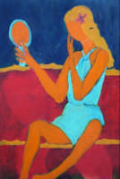 Giuseppe Sirni - lo specchio - olio su tela - cm 80X100 - Mistretta  - Mistretta (3115 clic)