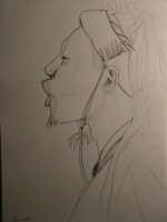 Giuseppe Sirni - uomo africano - matita su carta  - Mistretta (2088 clic)
