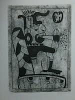 Giuseppe Sirni - fumatore - stampa - linoleum morsurato con soda caustica  - Mistretta (3760 clic)