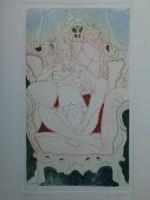 Giuseppe Sirni - donna su poltrona - acqua forte, acqua tinta, stampa pupè  - Mistretta (3196 clic)