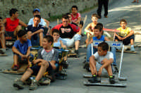 Montagnareale 1° Slalom CARRETTI 20.08.2006, la griglia di partenza  - Montagnareale (3730 clic)