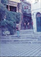 Viuzza di Castelmola angolo col Bar Turrisi nel 1974  - Castelmola (11002 clic)