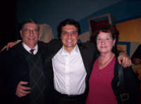 Ettore e Aurora in compagnia con Salvo La Rosa,  dopo uno spettacolo del programma INSIEME Genn.2005  - Paternò (2278 clic)