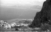 Panorama zona Vergine Maria vista da Montepellegrino nel 1958 PALERMO Ettore Grifasi