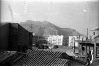 Scorcio di panorama con vista parziale di Montepellegrino nel 1958 PALERMO Ettore Grifasi