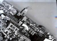 Scorcio di panorama con vista parziale del Grattacielo e la cupola del teatro Massimo nel 1958  - Palermo (3278 clic)