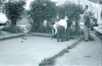 Giuoco delle bocce nel 1960  PALERMO Ettore Grifasi