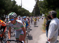 91° Giro ciclistico d'Italia - gruppo di corridori in primo piano allo Stradale dei Pioppi a Paternò 12-05-08  - Paternò (2778 clic)