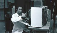 Televisore quasi riparato (a risata ri chiddu ca ci a fà) nel 1967  - Catania (2591 clic)