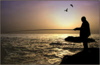 Pescatore con canna  - Stazzo di acireale (7331 clic)