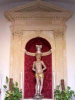 Interno della Cappella di San Sebastiano vicino alla Porta Marina.  - Siracusa (1978 clic)