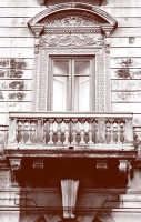 Balcone e particolari in sepia  - Siracusa (1841 clic)
