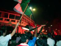 9 Luglio 2006. Agrigento - San Leone - Piazzale Aster Festeggiamenti in onore dell'Italia campione del Mondo.  - Agrigento (6486 clic)