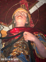 Ragusa Ibla. Interno della Cattedrale.Il simulacro di San Giorgio Martire, patrono di Ragusa ibla RA