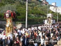 festa patronale di Santa Barbara, il fercolo in processione,   - Paternò (1942 clic)