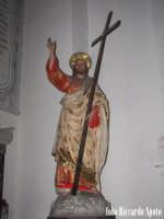 Modica Bassa. Interno della stupenda chiesa di San Pietro. Navata laterale, immagine del SS Salvator