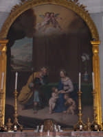 Santa Maria di Licodia, Chiesa Madre. Artistica tela ottocentesca, del pittore Giuseppe Rapisardi, raffigurante la Sacra Famiglia.   - Santa maria di licodia (2125 clic)