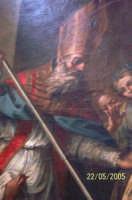 Santa Maria di Licodia, Chiesa Madre. Artistica tela settecentesca, del pittore Matteo Desiderato, raffigurante San Leone.   - Santa maria di licodia (1719 clic)