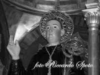 Festa di San Placido, Ottobre 2006. primo piano del simulacro di San Placido Martire.  - Biancavilla (2118 clic)