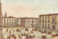 Piazza Università da una stampa del sec XIX  - Catania (2241 clic)