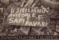 U SICILIANU AVI CORI E SAPI PAVARI IL SICILIANO HA CORAGGIO E SA RIPAGARE, la fiera risposta di Catania  al bombardamenti della guerra.  - Catania (3332 clic)