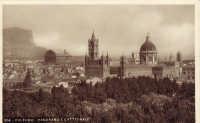 Palermo,panorama della città con la Cattedrale e il Teatro Garibaldi, anni '30  - Palermo (3107 clic)