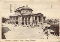 Palermo,Piazza G Verdi e Teatro Garibaldi, anni '30 PALERMO Riccardo Spoto