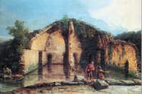 La Botte d'Acqua. Opera di J. Heoul sel sec XVIII, esposta all'Eremitagge di Sanpietroburgo. Raffigura la cisterna romana che alimentava l'antico acquedotto. Essa era sita nell'attuale piazza Matteotti, da cui deriva il nome dialettale di Costa a'utti.  - Santa maria di licodia (3748 clic)