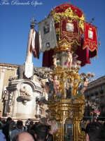 La festa di Sant'Agata. Le candelore. Candelora dei macellai chiancheri e l'elefante del duomo, u liotru  - Catania (4499 clic)