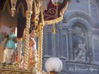 La festa di Sant'Agata. Le candelore. Candelora dei fiorai a regina e la cattedrale.  - Catania (2769 clic)