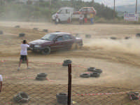 Gimkana automobilistica su sterrato. Campo sportivo S.Lucia. --Barrichello 2 in azione. --  - Chiusa sclafani (6482 clic)