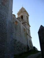 Il muro della vecchia chiesa diroccata ed il campanile.  - Contessa entellina (3187 clic)