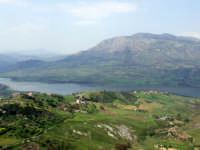 Panorama dal castello di Caccamo;veduta del lago di Caccamo (5461 clic)