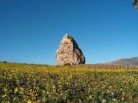 Roccia solitaria sulla strada da Corleone a San Cipirrello  - San cipirello (5082 clic)