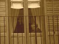 Uncinetto alla finestra  - Castelbuono (1918 clic)