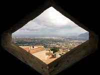 veduta su Palermo da una finestrella del Duomo MONREALE Lucia Durisi