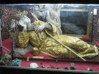 Al Santuario di Santa Rosalia, il simulacro della Santa PALERMO Lucia Durisi