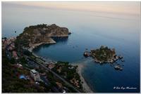 Isola Bella e Mazzarò, vista dal belvedere di Taormina (1850 clic)