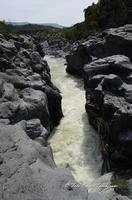 Gole del Simeto Gole del Simeto, formate, come quelle dell'Alcàntara, da una colata di lava i cui enormi massi di basalto sono stati levigati dall'acqua.  - Bronte (1469 clic)