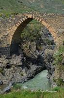 Ponte Saraceno Di origine romana, questo ponte, i cui archi a sesto acuto sono ornati da una fascia di pietra bicroma, è stato ricostruito sotto Ruggero II. Costeggiando il fiume (il Simeto) verso Nord, potrete scoprire le gole del Simeto, formate, come quelle dell'Alcàntara, da una colata di lava i cui enormi massi di basalto sono stati levigati dall'acqua.  - Bronte (1650 clic)