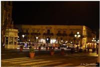 Acireale, notturna Piazza Duomo, Palazzo Comunale (897 clic)