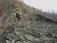 Etna, colata lavica 1928 Nella foto le bocche eruttive della colata lavica del 1928 che distrusse la cittadina di Mascali e arrivò fino a Carrabba, a pochi centinaia di metri dal mare  - Fornazzo (2499 clic)