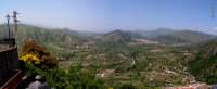 Valle dell'Alcantara, panoramica vista dal belvedere di Motta Camastra  - Motta camastra (4512 clic)