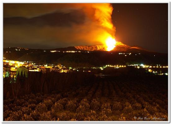 Etna in Eruzione - GIARRE - inserita il 01-Feb-11