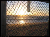Il tramonto sul canale di Sicilia (Punta Braccetto RG). Da li si vede l?Africa ma la rete chiude perchè noi da quella parte non ci vogliamo guardare e non vogliamo essere guardati.  - Punta braccetto (3107 clic)