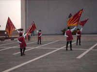 Sbandieratori e Musici Leoni Reali di Camporotondo Etneo (CT), i piccoli Leoncini in azione.  - Belpasso (1359 clic)